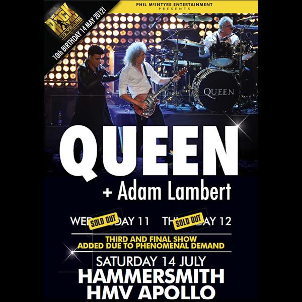 Set List del último concierto (hasta ahora) de Queen + Adam Lambert