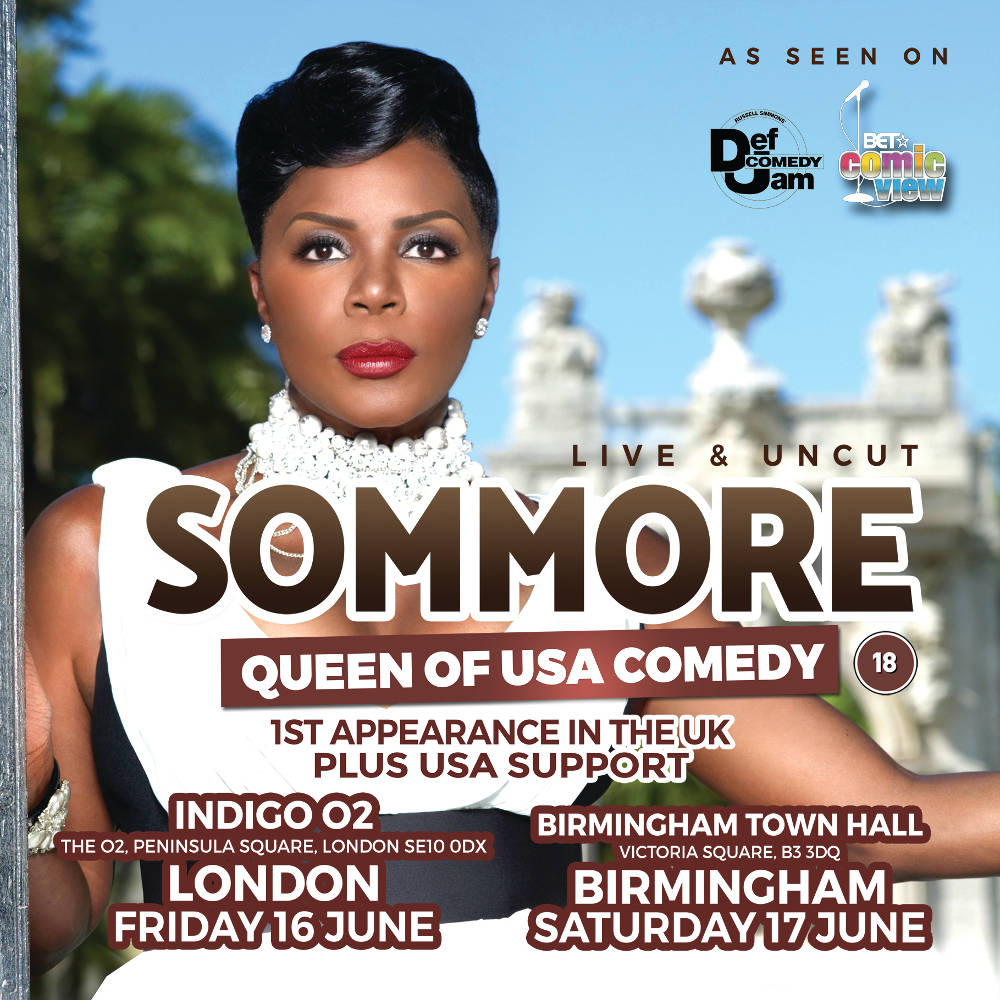 Comedy: Buy US Queen Of Comedy Sommore Tickets, US Queen Of Comedy